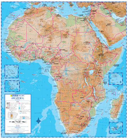Map Of Africa Physical.Sa Maps And Flags